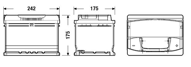 autobatterie powerred pkw starterbatterie 12v 60ah online. Black Bedroom Furniture Sets. Home Design Ideas