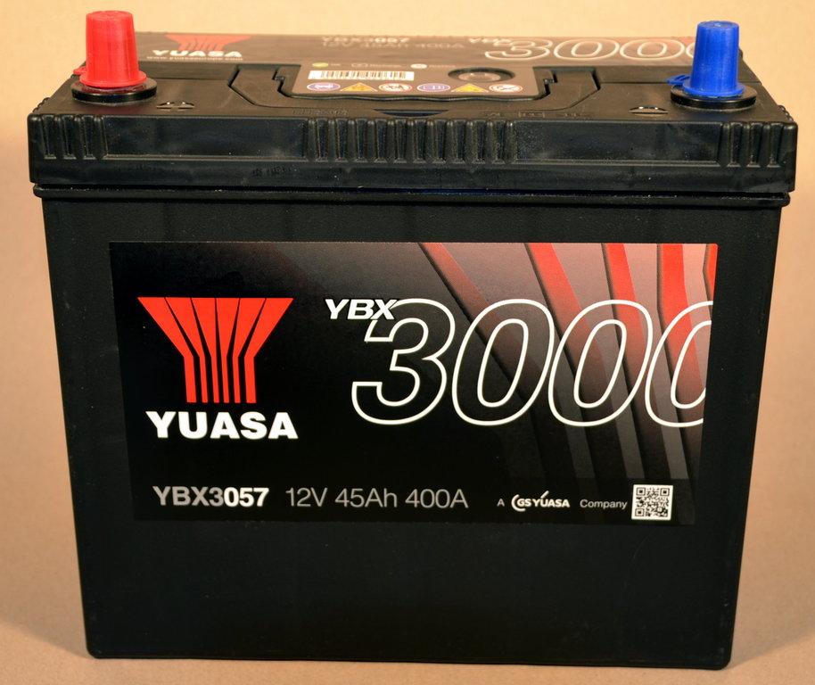 yuasa ybx3057 autobatterie 12v 45ah 400a starterbatterie. Black Bedroom Furniture Sets. Home Design Ideas