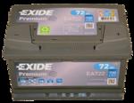 Autobatterie 12V 72Ah 720A EA722 Exide Premium Carbon Boost