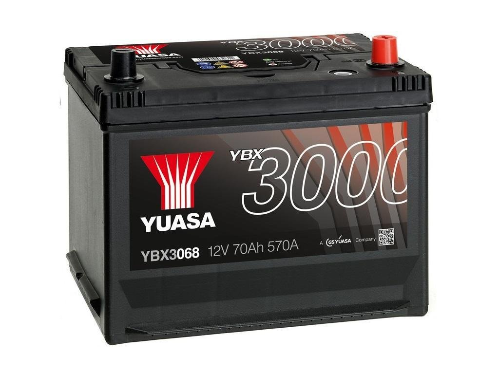 yuasa ybx3068 autobatterie 12v 70ah 570a starterbatterie. Black Bedroom Furniture Sets. Home Design Ideas
